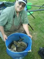Pêche dans l'Eure (27), fin juin 2009